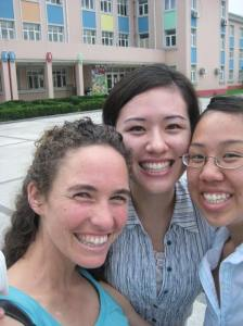 danielle jen and i before the first day of training