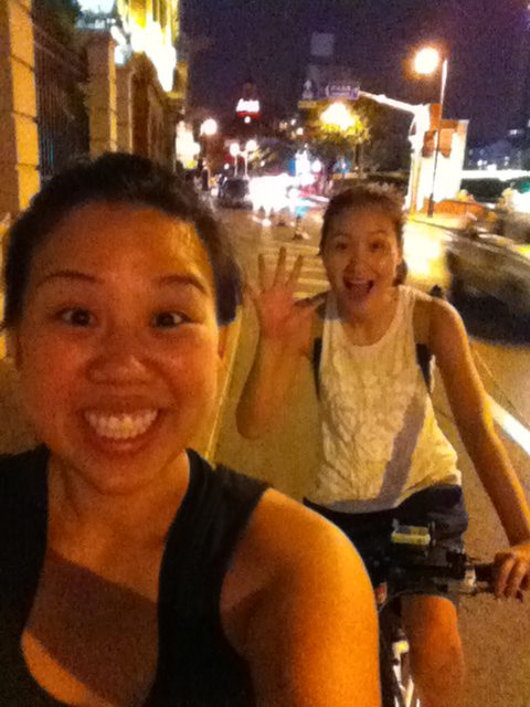 biking with loretta